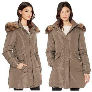 Kate Spade Hooded Faux Fur Collar Down Parka